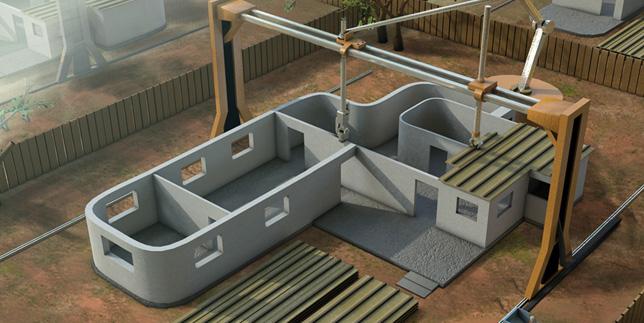 Impresión 3D para construcción Fuente: www.mimbrea.com