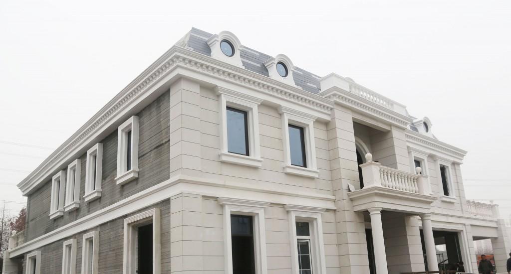 Empresa Winsun. Mansión de estilo neoclásico de 1.100 m² impresa en 3D Fuente: www.yhbm.com