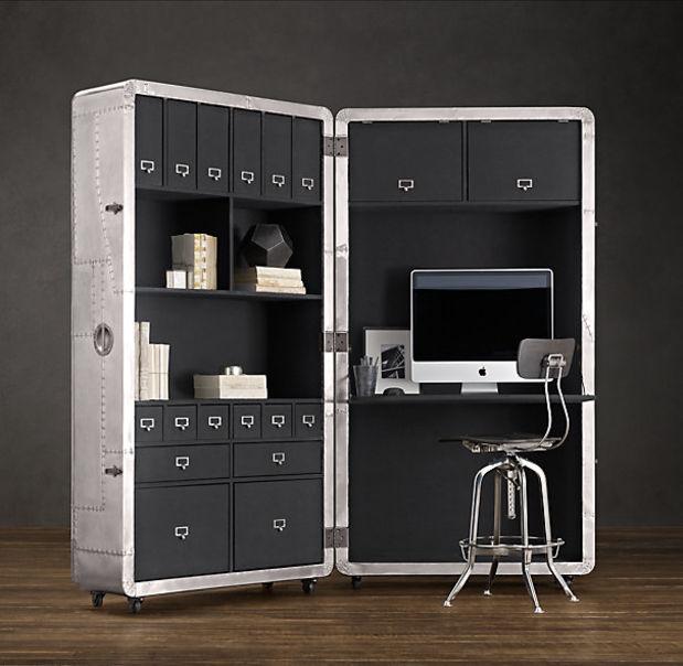 """""""Trabaja desde donde quieras"""". BLACKHAWK SECRETARY. Mobiliario diseñado por RESTORATION HARDWARE."""
