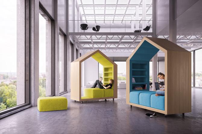 """""""Diseño de espacios de trabajo innovadores"""". BREAK-OUT FURNITURE. Mobiliario diseñado por DYMITR MALCEW."""