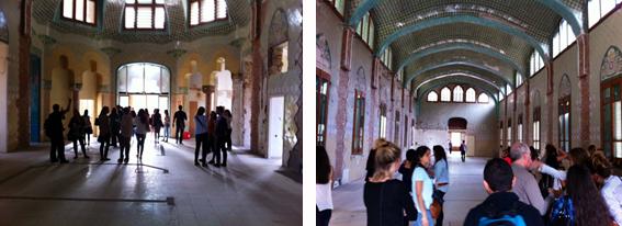 Interior de uno de los pabellones